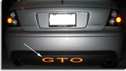 GTO Rear Lettering Decal Kit