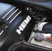 HEMI Lettering Engine Cover Decals - 09+ Challenger 5.7L