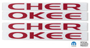 Cherokee Emblem Overlay Decal Sticker Graphics