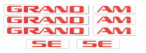 Grand Am SE Badge Overlay Decal Stickers