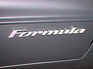 FORMULA Badge Overlay Decals - 98-02 Firebird