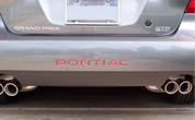 Rear Lettering Inlay Decal - 04-08 Grand Prix