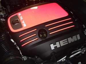 Engine Cover Centerpiece Overlay Deca 5.7L - 06-08 Charger