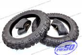 (PW50) - 2 pcs x Tyre & Tube (2.50x10)