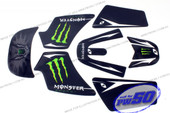 (PW50) - Sticker Decal Graphics Set B (Monster Engergy)