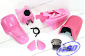 (PW50) - Package of Fender Cover, Fuel Tank, Seat (All Pink)