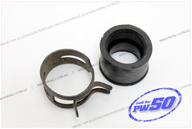 (PW50) - Rubber Clamp, Exhaust Pipe to Silencer