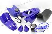(PW50) - Package of Fender Cover (Blue), Fuel Tank (Blue), Seat (Black)