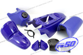 (PW50) - Package of Fender Cover, Fuel Tank, Seat (All Blue)