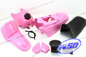 (PW50) - Package of Fender Cover (Pink), Fuel Tank (Pink), Seat (Black)