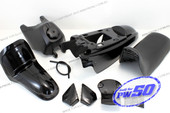 (PW50) - Package of Fender Cover, Fuel Tank, Seat (All Black)