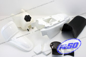 (PW50) - Package of Fender Cover (White), Fuel Tank (White), Seat (Black)