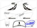 (PW50) - Sticker Decal Graphics Set A (White)