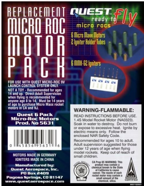 Quest Motor Micro Maxx & MMX-G2 Igniter 6 pack set 5631