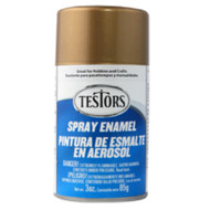 Testors 1244 Metallic Gold 3 oz. Spray Paint **