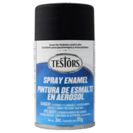 Testors 1249 Flat Black 3 oz. Spray Paint **