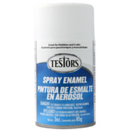 Testors 1258 Flat White 3oz Spray Paint **
