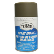 Testors 1265 Flat Olive Drab 3 oz. Spray Paint **