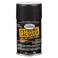 Testors 1832 Blazing Black Lacquer 3 oz. Spray Paint **