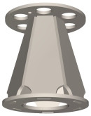 Semroc Ejection Baffle Kit Conical Fiber Design Series #18   SEM-EB-18 *