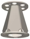 Semroc Ejection Baffle Kit Conical Fiber BT-70   SEM-EB-70 *