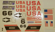 Semroc Decal - Space Shuttle™ (set of 2)   SEM-DKV-38 *