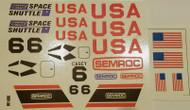 Semroc Decal - Space Shuttle™ (set of 2)   SEM-DKV-38 *