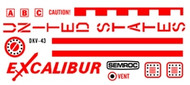 Semroc Decal - Excalibur™   SEM-DKV-43 *