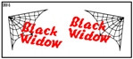 Semroc Decal - Black Widow™   SEM-DKV-5 *