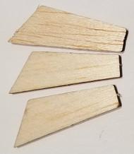 Semroc Laser-Cut Fins ThunderBee™ (set of 3) 3/32 Balsa SEM-FA-1 *