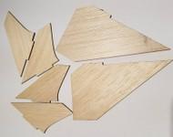 Semroc Laser-Cut Fins Lil' Centauri™ (6 fins)  3/32 Balsa   SEM-FA-17 *