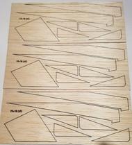 Semroc Laser-Cut Fins Hydra One™  (A/B/C) 1/8 Balsa  SEM-FA-18 *