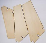 Semroc Laser-Cut Fins ThunderStorm™  1/8 Plywood(3F)  SEM-FA-2 *