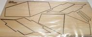 Semroc Laser-Cut Fins Mini Hustler™ 3/32 Balsa  Sheet  SEM-FA-20 *