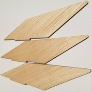 Semroc Laser-Cut Fins Astron™ 3/32 Balsa   (3F) SEM-FA-23 *