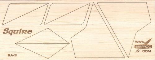 Semroc Laser Cut Fins Squire 2 Sheets 1 16 Balsa Sem Fa 3