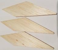 Semroc Laser-Cut Fins Astro-Jr™ 1/16 Balsa(3F) SEM-FA-4 *