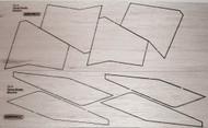 Semroc Laser-Cut Fins Texas Firefly™ Sheet A/B 3/32 Balsa   SEM-FA-8 *