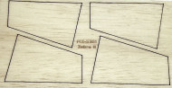 Semroc Laser-Cut Fins Zebra II™  3/32 Balsa(4F) SEM-FCE-5361 *
