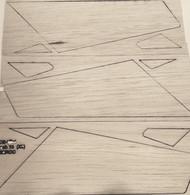 Semroc Laser-Cut Fins Mach 10™  3/32  Balsa(Sheet A/B/C ) SEM-FCE-KA4 *
