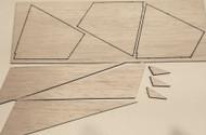 Semroc Laser-Cut Fins Stiletto™ 3/32 balsa(Sheet A/B)  SEM-FCE-KB1 *