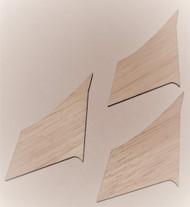 Semroc Laser-Cut Fins Quasar™  3/32 Balsa  SEM-FCE-KC7 *