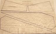 Semroc Laser-Cut Fins Scram Jet™ 1/16 Balsa Sheet  SEM-FCE-KF4 *