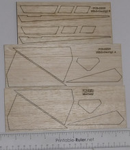 Semroc Laser-Cut Fins Mini-Dactyl™ Sheet A 1/16, Sheet B 3/32  SEM-FCE-KM6 *
