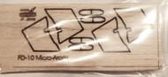 Semroc Laser-Cut Fins Micro Arcas™ (4 fins)   3/32  Balsa SEM-FD-10 *