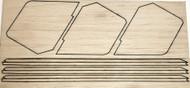 Semroc Laser-Cut Fins Aerobee 150™ 3/16 Balsa(Sheet A/B)  SEM-FD-3 *