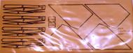 Semroc Laser-Cut Fins Nike-Tomahawk™ 1/16  Basswood(Sheet)  SEM-FD-7 *