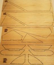Semroc Laser-Cut Fins Enerjet Pterodactyl™ (Set of 4)Sheet A/B 1/18 Balsa  SEM-FEJ-KE6 *