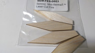 Semroc Laser-Cut Fins Mini-Bertha™ (4 fins)  1/16 Balsa  SEM-FES-0803 *