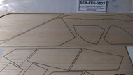 Semroc Laser-Cut Fins Condor™ (Sheet A 3/32 Balsa Sheet B 1/16 balsa )   SEM-FES-0807 *